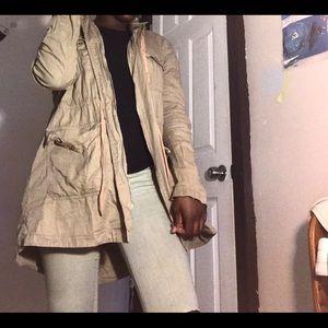 Forever 21 tan utility jacket